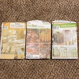 Other - ✂️ Lot of 3 Simplicity home decor sewing patterns